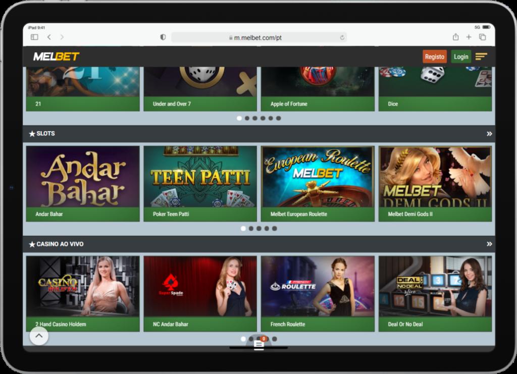 Casino mobile site
